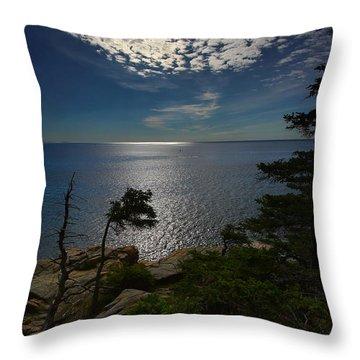 Soft Light On Otter Point Throw Pillow
