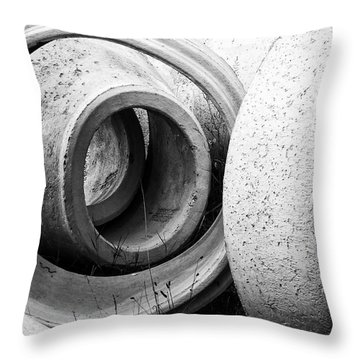 Soft Lines, Hard Surface Throw Pillow