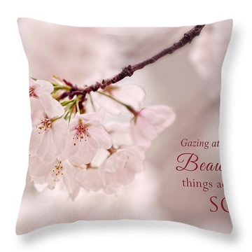 Soft Medley With Message Throw Pillow