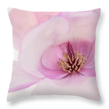 Throw Pillow featuring the photograph Soft Nest by Mary Jo Allen