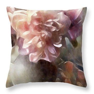 Soft Pastel Peonies Throw Pillow