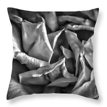 Soft Petals For My Valentine Throw Pillow by Janice Rae Pariza
