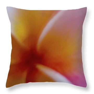 Throw Pillow featuring the photograph Soft Plumeria by Roger Mullenhour