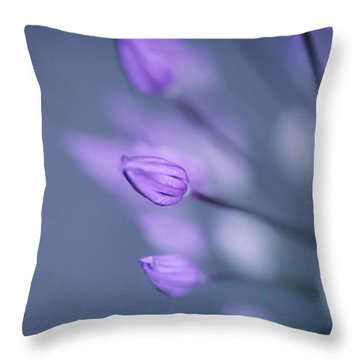 Throw Pillow featuring the photograph Soft Purple by Michaela Preston