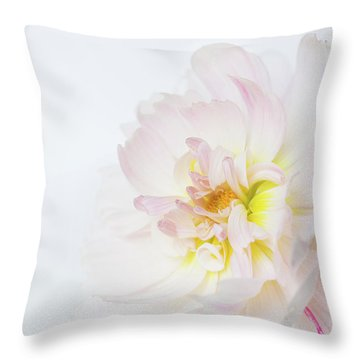 Throw Pillow featuring the photograph Soft Ruffles by Mary Jo Allen