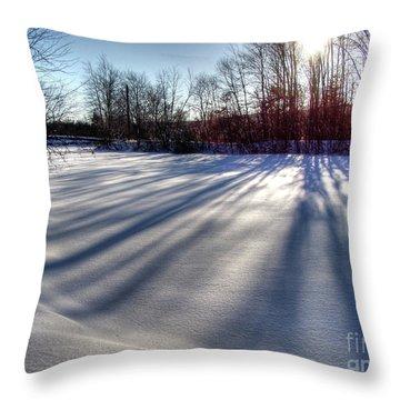Soft Shadows Throw Pillow