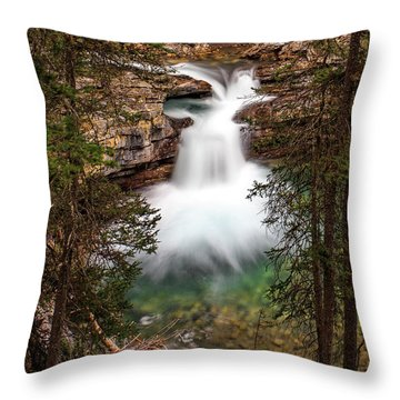 Throw Pillow featuring the photograph Soft Smooth Waterfall by Darcy Michaelchuk