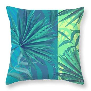 Soft Tropic  Throw Pillow