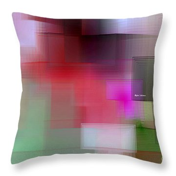 Throw Pillow featuring the digital art Soft View In 3 Stages by Rafael Salazar