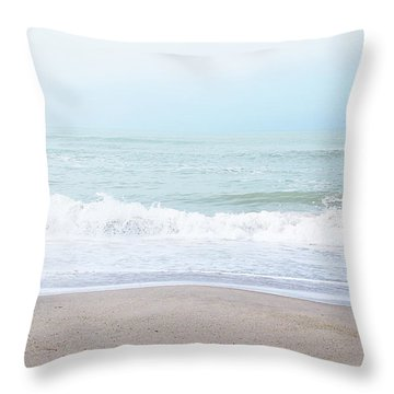 Soft Waves 2- Art By Linda Woods Throw Pillow