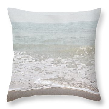 Soft Waves- Art By Linda Woods Throw Pillow