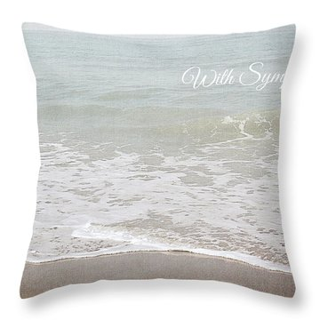Soft Waves Sympathy Card- Art By Linda Woods Throw Pillow