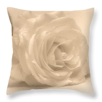 Throw Pillow featuring the photograph Soft White Rose by Scott Carruthers