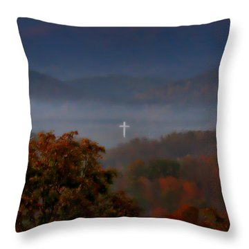 Softly And Tenderly Throw Pillow