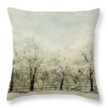 Softly Falling Snow Throw Pillow