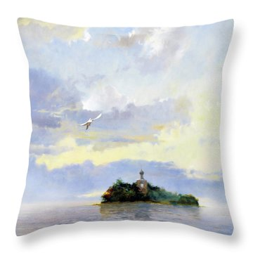 Softly Fly Away Throw Pillow