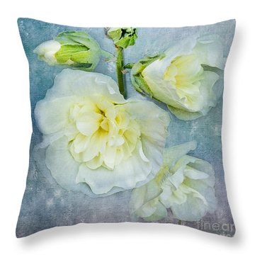 Throw Pillow featuring the photograph Softly In Blue by Betty LaRue