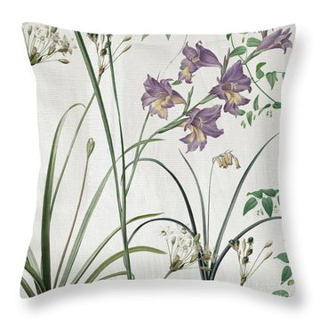 Softly Purple Crocus Throw Pillow