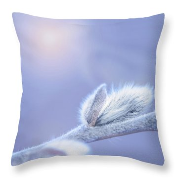 Softly Spring Arrives Throw Pillow