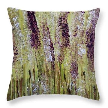 Softly Swaying Throw Pillow