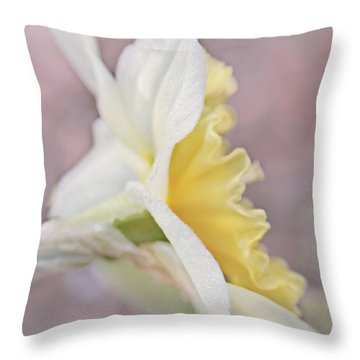Throw Pillow featuring the photograph Softness Of A Daffodil Flower by Jennie Marie Schell