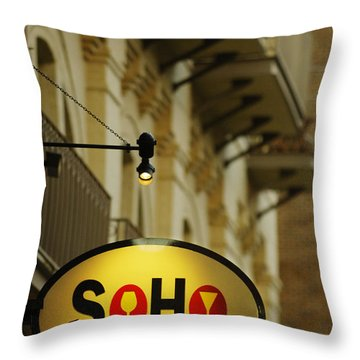 Soho Wine Bar Throw Pillow by Jill Reger