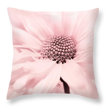 Throw Pillow featuring the photograph Soiree In Cotton Candy Pink by Darlene Kwiatkowski