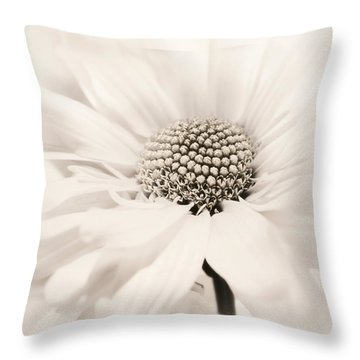 Throw Pillow featuring the photograph Soiree In Sepia by Darlene Kwiatkowski