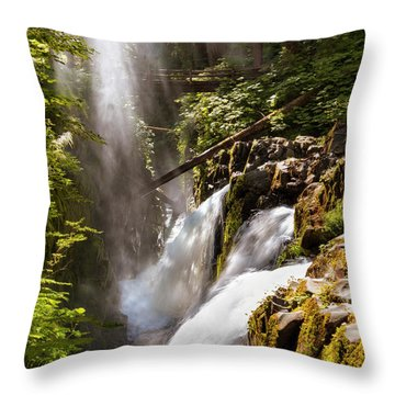 Throw Pillow featuring the photograph Sol Duc Falls by Adam Romanowicz