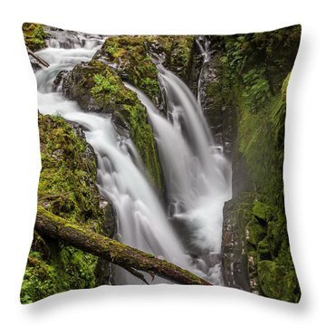 Sol Duc Falls Throw Pillow