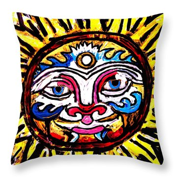 Sol Horizon Band Throw Pillow