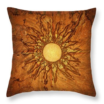 Throw Pillow featuring the digital art Sol by Kenneth Armand Johnson