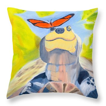 Solace Throw Pillow by Meryl Goudey