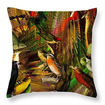 Solar Birds Of Paris Throw Pillow