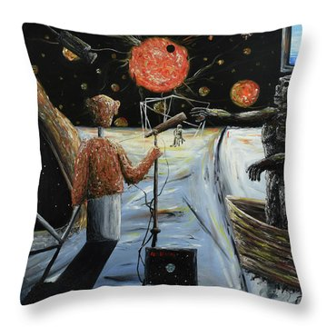 Solar Broadcast -transition- Throw Pillow