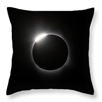 Solar Diamond Ring Throw Pillow