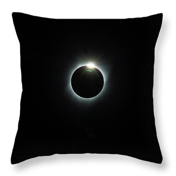 Solar Eclipse 2017 Throw Pillow by David Gn