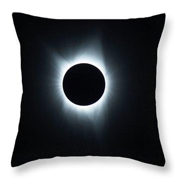 Solar Eclipse 2017 Throw Pillow