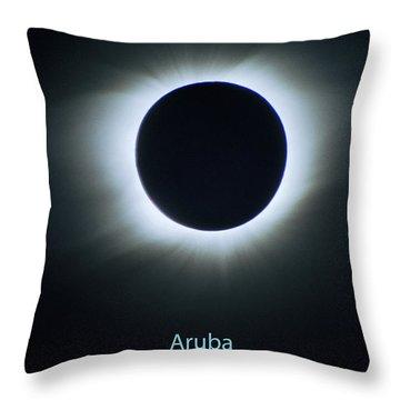 Solar Eclipse Aruba 1998 Throw Pillow