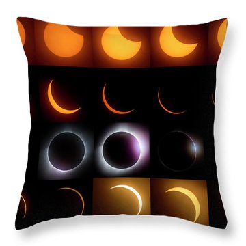 Solar Eclipse - August 21 2017 Throw Pillow