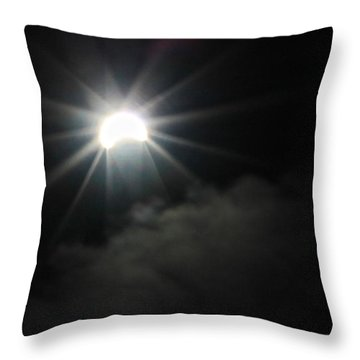 Solar Eclipse In The Clouds Throw Pillow