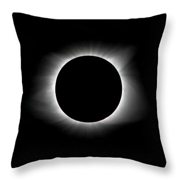 Solar Eclipse Ring Of Fire Throw Pillow
