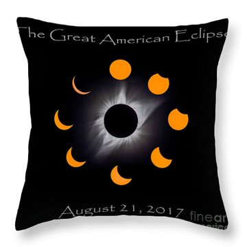Solar Eclipse Stages Throw Pillow