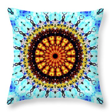 Throw Pillow featuring the digital art Solar Flare 1 by Wendy J St Christopher