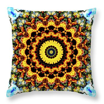 Throw Pillow featuring the digital art Solar Flare 2 by Wendy J St Christopher