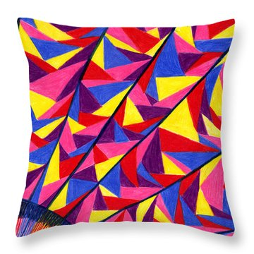 Solar Fractals Throw Pillow by Kim Sy Ok