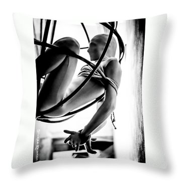 Throw Pillow featuring the photograph Solar Jail by Stwayne Keubrick