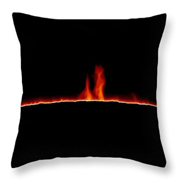 Solar Prominences Throw Pillow by Greg Piepol and Photo Researchers