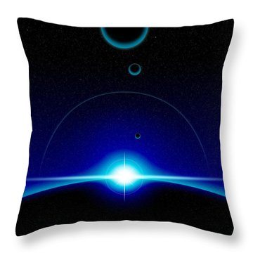 Solar Scene Throw Pillow by Phil Perkins