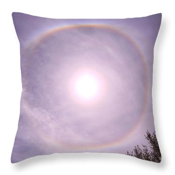 Solar Solace Throw Pillow
